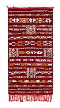 Moroccan Kilim Rug Zemmouri Wool Handwoven Small 132 cm x 68 cm / 4.3 ft x 2.25 ft (ZN2)